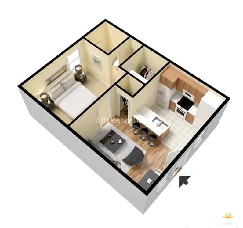 3d model representation of floor layout
