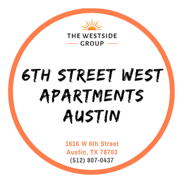 logo of 6th street west apartments austin