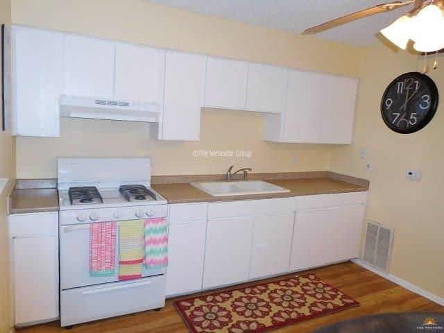 individual kitchen area per unit