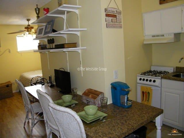 spacious studio unit with open floor plan