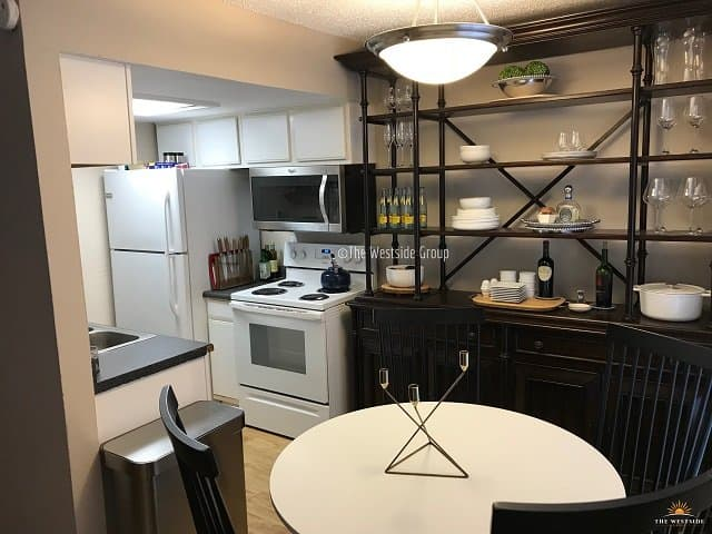 kitchen space of 2br apartment in clarksville