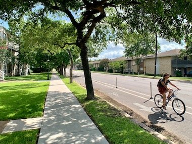 north university ut austin biking route